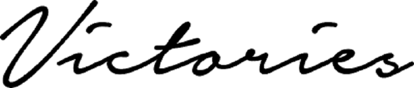 Victories logo noir